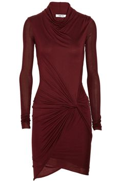 i'm in love :Helmut Lang|Draped jersey dress|NET-A-PORTER.COM