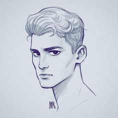 Cameron Mark on Male head sketch. Wasn t in my usual drawing groove today Pencil Art Drawings, Art Drawings Sketches, Illustration Sketches, Cartoon Drawings, Website Illustration, Sketches Of Boys, Hipster Drawings, Illustrations, Boy Sketch