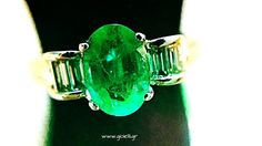 Emerald green transparency
