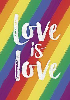 Love is Love, Gay Pride Large Printable Queer Art, Orlando Pride, Rainbow Flag, LGBT Pride, Equality, Modern Home Decor