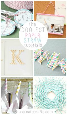 The Coolest Paper Straw Tutorials