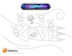 Only three episodes into YOUniverse on TVOkids, and we've already seen just how creative the universe can be when perceived through a child's eyes. Here's a colouring page for your children to unleash their inner creativity on. Show us how your YOUniverse looks!  www.poparts.ca