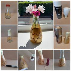 Vase from Kikkomon bottle Gifts For Family, Bobs, Glass Vase, Tutorials, Bottle, Fun, Home Decor, Decoration Home, Room Decor