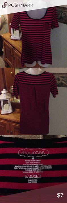 Maurices Top Maurices Top Size Medium.  Polyester/Rayon Blend. Great Preowned Condition. Any questions please ask. Thank You 😊 Maurices Tops