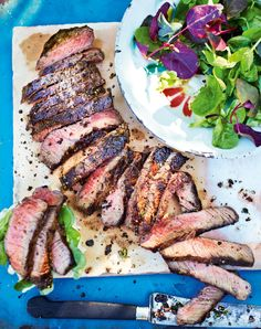 This simple steak recipe packs a huge flavour punch when cooked on the barbecue. A perfect laid back BBQ crowd-pleaser from West Indian grill king, Levi Roots.