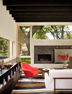 look thru for ideas Contemporary Living Room by Lake Flato Architects