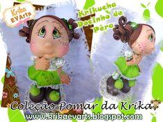 Moldes Fofucha Docinho de Pera de la colección Pomar de Krika, muñecas de la colección de la huerta. MOLDES:  …