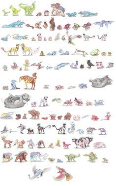 Gen II by DragonlordRynn on DeviantArt Pokemon Na Vida Real, Pokemon In Real Life, Pokemon Breeds, Pokemon Memes, Pokemon Stuff, Pokemon Sketch, Pokemon Craft, Creature Concept, Pokemon Pictures