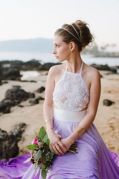 Ethereal Maui Wedding Inspiration - www.theperfectpalette.com - Natalie Franke Photography, Design and Styling by Opihi Love,