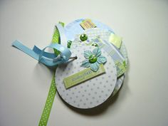 Baby Boy Premade Mini Scrapbook Album Baby Boy by HampshireRose, $20.00