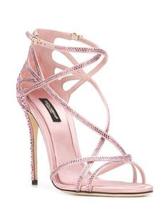Dolce & Gabbana Crystal Embellished Sandals 85 In Multi Stilettos, Pumps, Open Toe Shoes, Open Toe Sandals, Stiletto Shoes, Shoes Heels, Louboutin Shoes, Crazy Shoes, Me Too Shoes
