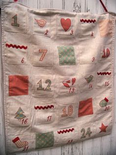 Advent Countdown Calendar by StitchSprite on Etsy