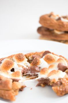 Bake these S'mores Chocolate Chip Cookies at home with Piece of Cake Bake Box! Pre-measured ingredients and easy instructions are delivered to your door to make at-home baking a breeze.