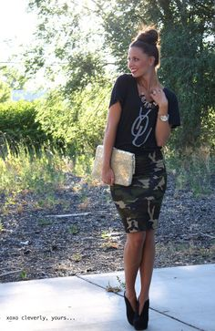 Now I want a camo pencil skirt