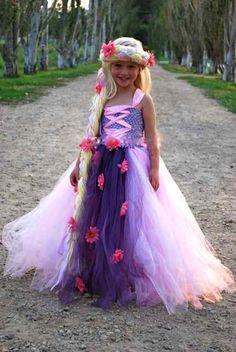 Rapunzel Inspired Tutu Dress-