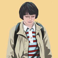 WIP of Mike Wheeler from Stranger Things  - - - #art #artwork #drawing #digitalart #sketch #doodle #origonalart #artist #instagram #instagramartist #drawingoftheday #tumblr #paint #brush #pen #pencil #follow #strangerthings #upsidedown #yellow #wip #guy #portrait #eggos #L #eleven #netflix #fanart #mikewheeler #Barb