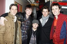 Nick and Frankie Jonas with our own Luther Creek, Matthew James Thomas, and Reeve Carney at SPIDER-MAN TURN OFF THE DARK _ Jan. 20, 2011
