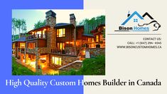 Bison custom Homes offers luxury new home construction or renovation of an existing one. From counseling to moving up our sleeves, Custom Homes in Toronto has the talent and abilities to oversee your investment, wherever you are all the while Call: Custom Home Plans, Custom Home Designs, Custom Home Builders, Custom Homes, Design Your Dream House, Build Your Dream Home, House Design, Superior Homes, Best Architects