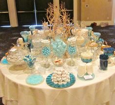 beach theme candy buffet | Candybar Couture Gallery - mywedding.com