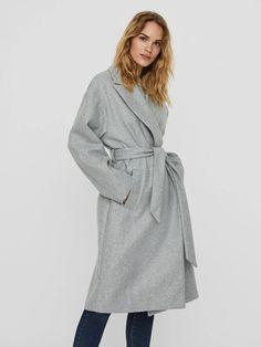 Fortune long wrap coat | GREY Coats For Women, Jackets For Women, Wrap Coat, Long Ties, Models, Long Jackets, Outerwear Women, Vintage Ladies, Mens Tops