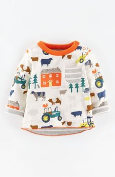 Mini Boden Reversible T-Shirt (Baby Boys) available at #Nordstrom