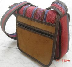 Persian Jajim leather Messenger Bag  These kind of jajims are made in south of Iran [specially Khouzestan] I work with an artist there. I do