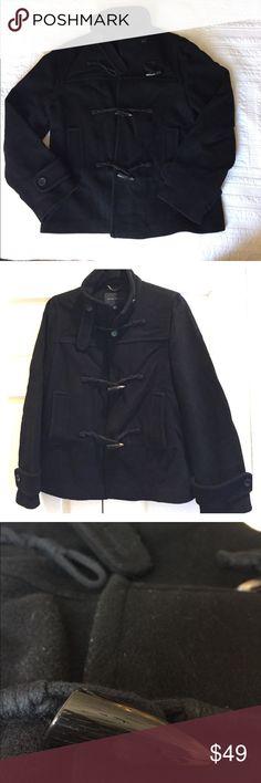 Banana Republic Navy Blue Pea Coat with Toggles Navy pea coat with toggles. 72% wool. 28% nylon. Banana Republic Jackets & Coats Pea Coats