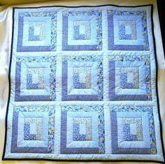 Beautiful log cabin quilt | Quilts | Pinterest