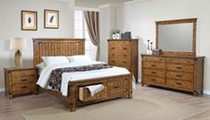 Looking for Coaster Home Furnishings Storage Bedroom Set Dovetail Drawers Brown (Queen) ? Check out our picks for the Coaster Home Furnishings Storage Bedroom Set Dovetail Drawers Brown (Queen) from the popular stores - all in one. Romantic Bedroom Decor, Rustic Master Bedroom, King Bedroom Sets, Queen Bedding Sets, Queen Bedroom, Bedroom Ideas, Modern Bedroom, Modern Beds, Budget Bedroom