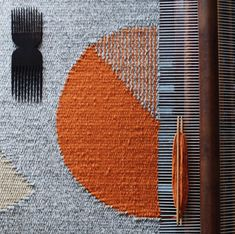 exploring geometric forms through weaving has been at the heart of my tapestry practice since the very beginning. Weaving Textiles, Weaving Art, Tapestry Weaving, Loom Weaving, Hand Weaving, Weaving Wall Hanging, Spinning Wool, Textile Fiber Art, Weaving Projects