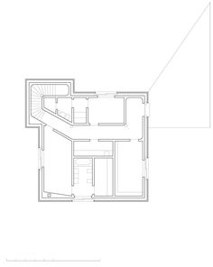 K+N Residence, Zurich, Switzerland, 2005 - Valerio Olgiati.  First Floor Plan