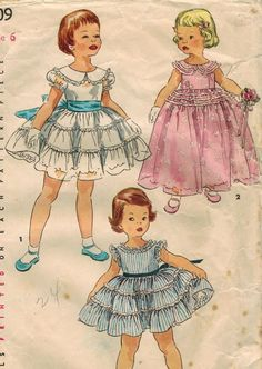 1950s Simplicity 1109 Vintage Sewing Pattern by midvalecottage, $12.00