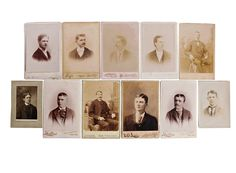 Victorian Men Cabinet Cards, 11 Cards, Dapper Gentlemen, Antique Portrait Photos, Antique Photo Lot, Cabinet Card Collection, FREE SHIPPING! by LavishMaidenVintage on Etsy