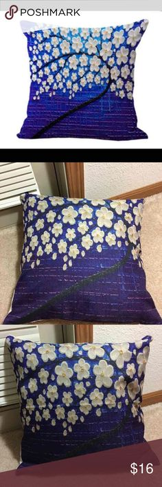 """Lovely tree pillowcases set/2 New Home Decorative pillowcase Cushion Throw Pillowcase 18"""" Vintage Decor  Cotton Linen Square  Lovely ❤Tree. New condition   Pillow not included Other"""
