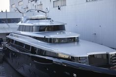"""Feadship launched 46m """"Kiss"""".  http://www.yachtemoceans.com/feadship-launched-46m-kiss  Exterior styling: Dubois  #yacht #jacht #yate #yatch #ship #superyacht #megayacht #motoryacht #motorjacht #MYKiss #Feadship"""