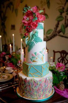Bohemian luxe wedding cake | Rocksalt Photography