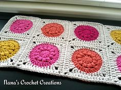"avelry: Nana's ""Puff Circle Square"" (Ver. 2)  ~ free pattern ᛡ"