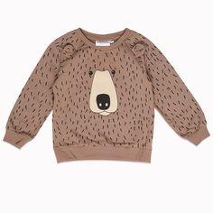 Mini Rodini Bear Sweatshirt brown