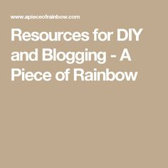 Resources For DIY And Blogging