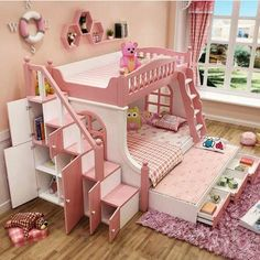 "Explore our site for even more details on ""bunk beds for kids boys"". It is a great spot to find out more. Baby Bedroom, Girls Bedroom, Bedroom Decor, Wall Decor, Bed For Girls Room, Little Girl Rooms, Kids Bedroom Designs, Kids Room Design, Princess Bedrooms"