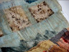 spirit cloth by Jude Hill: Textile Fiber Art, Textile Artists, Textile Texture, Sewing Art, Sewing Crafts, Fabric Art, Fabric Crafts, Fabric Books, Fabric Design