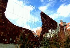Building art installations on the Highline.