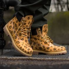 41e87c8c482 Leopard Sycamore Style Custom Dyed Timberland Boots Football Boots