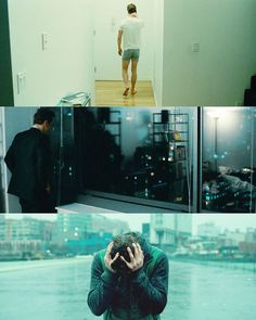 Shots of Michael Fassbender as Brandon in Shame; cinematography by Sean Bobbitt