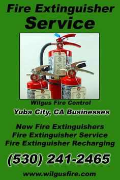 Fire Extinguisher Service Yuba City, CA (530) 241-2465 We're Wilgus Fire Control. Call Today and Discover the Complete Source for all Your Fire Protection!