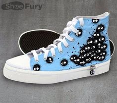 My Neighbour Totoro, Soot Sprite Converse - I would wear these.