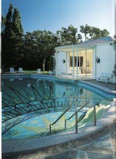 Paul Williams architect -  pool www.posnerfineart.com