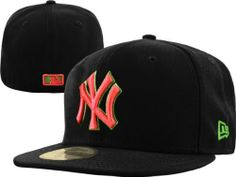 bd8ba36c6 New York Yankees New Era 59FIFTY Black Neon  Yeezy  Fitted Hat by New Era