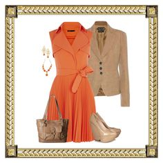 """""""Orange Coboche (1062)"""" by trufflelover ❤ liked on Polyvore featuring Tom Ford, Nicholas Kirkwood, Liz Palacios and b.o.c. Børn Concept"""