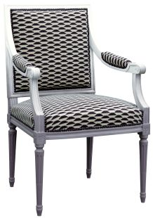 guest chairs. Gilles Nouailhac - Fauteuil Louis XVI Jacob Outdoor Chairs, Outdoor Furniture, Outdoor Decor, Create Your Own Furniture, French Style Chairs, Black And White Furniture, Dining Room Chairs Ikea, Executive Chair, Furniture Upholstery